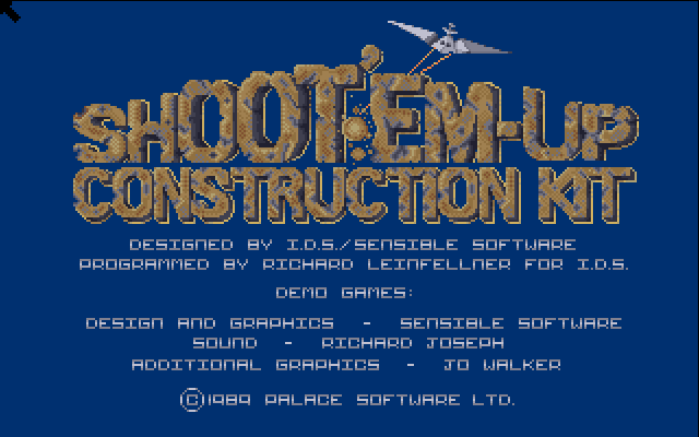 Click the screen to see the Amiga menus
